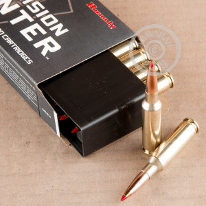 An image of 6.5MM CREEDMOOR ammo made by Hornady at AmmoMan.com.