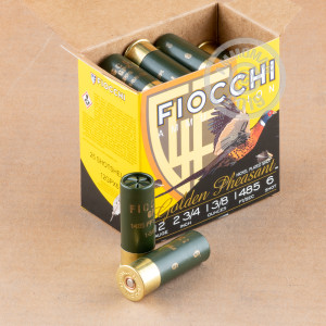 Great ammo for hunting pheasant, these Fiocchi rounds are for sale now at AmmoMan.com.