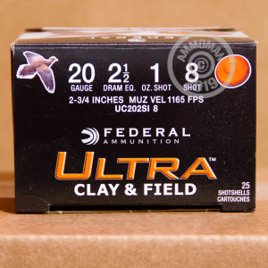 Photograph of Federal 20 Gauge #8 shot for sale at AmmoMan.com