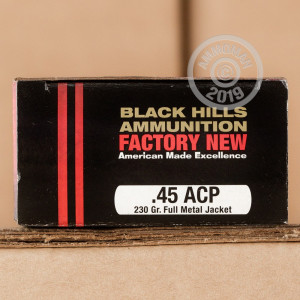 An image of .45 Automatic ammo made by Black Hills Ammunition at AmmoMan.com.