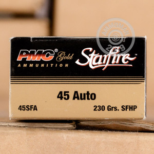 Image of .45 Automatic ammo by PMC that's ideal for home protection.