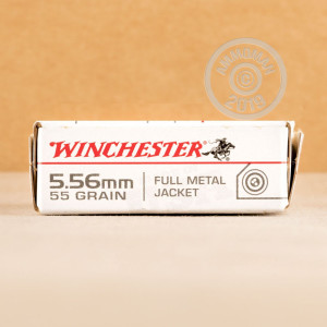 Photograph showing detail of 5.56X45 WINCHESTER 55 GRAIN FMJ M193 (500 ROUNDS)