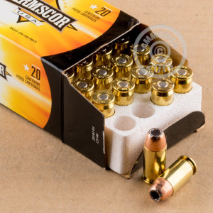Photo of .45 Automatic JHP ammo by Armscor for sale at AmmoMan.com.