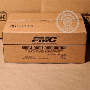 Image of the .223 REMINGTON PMC BATTLE PACK 55 GRAIN FMJ-BT (200 ROUNDS) available at AmmoMan.com.