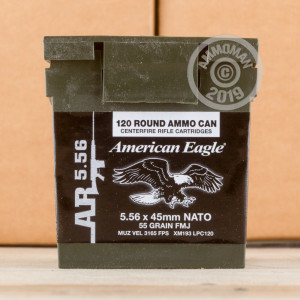 Image of the 5.56 NATO FEDERAL LAKE CITY M193 BALL 55 GRAIN FMJ-BT (120 ROUNDS) available at AmmoMan.com.