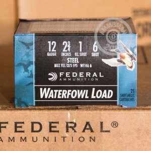 Photograph of Federal 12 Gauge #6 shot for sale at AmmoMan.com