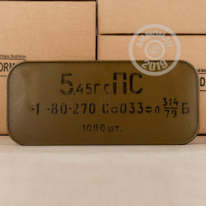 Image of Russian 5.45 x 39 Russian rifle ammunition.