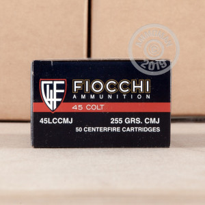 A photo of a box of Fiocchi ammo in .45 COLT.