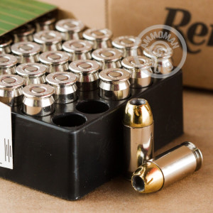 A photograph of 500 rounds of 185 grain .45 Automatic ammo with a JHP bullet for sale.