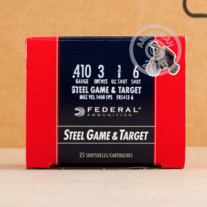 Photograph of Federal 410 Bore #6 shot for sale at AmmoMan.com