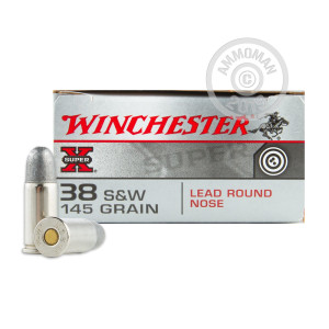 38 SPECIAL WINCHESTER SUPER-X 145 GRAIN LRN (50 ROUNDS)
