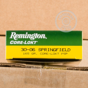 Image of Remington 30.06 Springfield rifle ammunition.