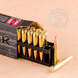 Photo detailing the 300 AAC BLACKOUT HORNADY BLACK 208 GRAIN A-MAX (20 Rounds) for sale at AmmoMan.com.
