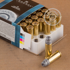 A photograph of 500 rounds of 200 grain 44 Special ammo with a Lead Semi-Wadcutter Hollow Point(LSWCHP) bullet for sale.