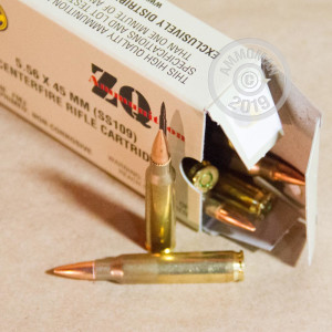 Image of ZQI Ammunition 5.56x45mm bulk rifle ammunition.