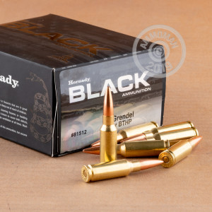 Image of bulk 6.5 Grendel ammo by Hornady that's ideal for training at the range.