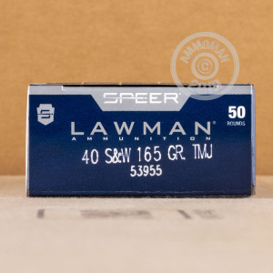 A photograph of 1000 rounds of 165 grain .40 Smith & Wesson ammo with a TMJ bullet for sale.