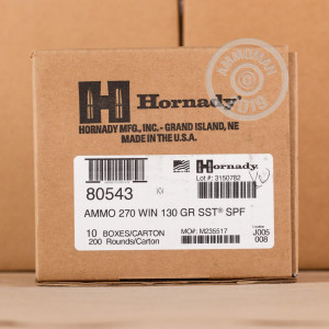Photo of 270 Winchester SST ammo by Hornady for sale.