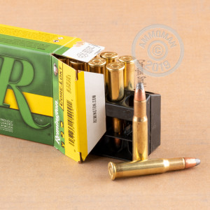 Image of 30-30 Winchester ammo by Remington that's ideal for hunting wild pigs, whitetail hunting.