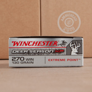 A photo of a box of Winchester ammo in 270 Winchester.