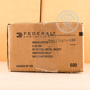 Image of 5.56X45MM FEDERAL AMERICANN EAGLE M855 62 GRAIN FMJ (120 ROUNDS)