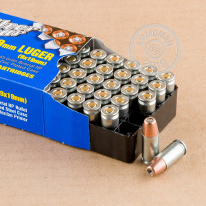 An image of 9mm Luger ammo made by Silver Bear at AmmoMan.com.