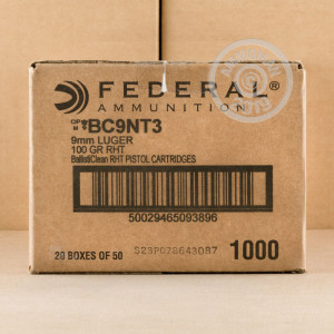 Image of 9mm Luger ammo by Federal that's ideal for shooting steel targets.