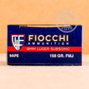Photo of 9mm Luger FMJ ammo by Fiocchi for sale at AmmoMan.com.