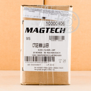 Photo of 9mm Luger Jacketed Soft-Point (JSP) ammo by Magtech for sale at AmmoMan.com.