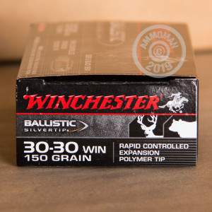Image of Winchester 30-30 Winchester rifle ammunition.