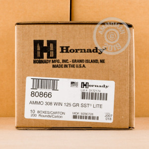 An image of 308 / 7.62x51 ammo made by Hornady at AmmoMan.com.
