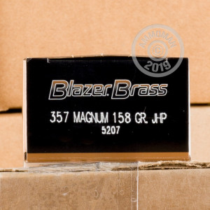 Photo of 357 Magnum JHP ammo by Blazer Brass for sale at AmmoMan.com.