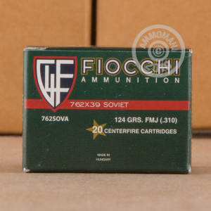 Image of Fiocchi 7.62 x 39 rifle ammunition.