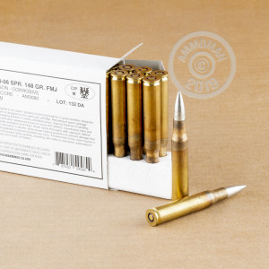 Image of 30.06 Springfield ammo by Kynoch that's ideal for training at the range.