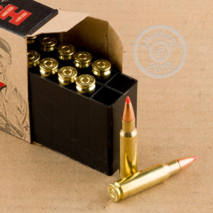 An image of 6.8 SPC ammo made by Hornady at AmmoMan.com.