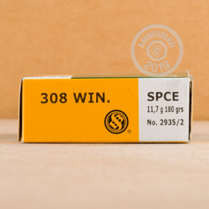 Photo of 308 / 7.62x51 Soft-Point Cutting Edge(SPCE) ammo by Sellier & Bellot for sale.