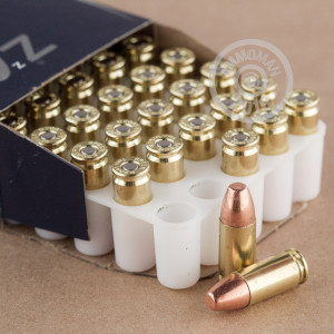 An image of 9mm Luger ammo made by Speer at AmmoMan.com.