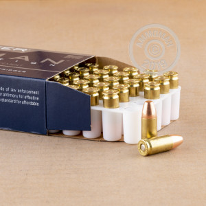A photograph of 1000 rounds of 147 grain 9mm Luger ammo with a TMJ bullet for sale.