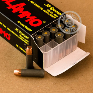 Image detailing the steel case and boxer primers on the Tula Cartridge Works ammunition.