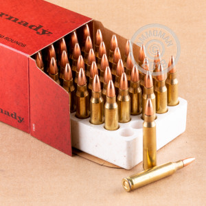 Image of the 223 REM HORNADY 55 GRAIN FMJ-BT (50 ROUNDS) available at AmmoMan.com.