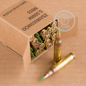 Photograph showing detail of 5.56X45 FEDERAL LAKE CITY 62 GRAIN FMJ (1800 ROUNDS)