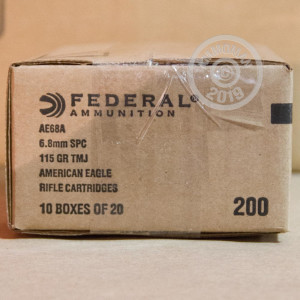 Image of Federal 6.8 SPC rifle ammunition.
