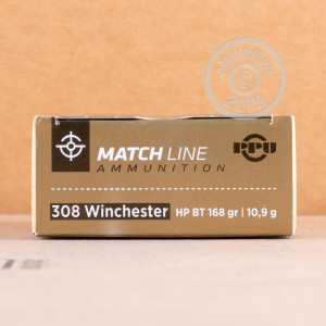 Photo of 308 / 7.62x51 Hollow-Point Boat Tail (HP-BT) ammo by Prvi Partizan for sale.