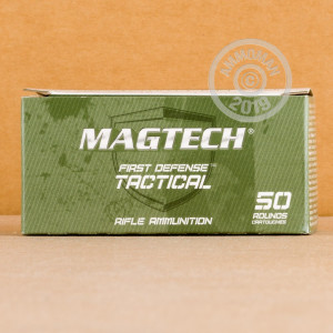 Photograph showing detail of 5.56 NATO CBC MAGTECH 62 GRAIN FMJ (1000 ROUNDS)