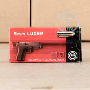 Image of GECO 9mm Luger pistol ammunition.