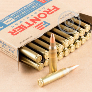 Photo of 5.56x45mm FMJ ammo by Hornady for sale.