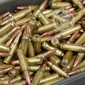 A photograph detailing the bulk 5.7 x 28 ammo with Unknown bullets made by Mixed.