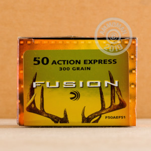 An image of 50 Action Express ammo made by Federal at AmmoMan.com.