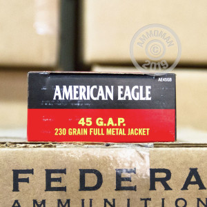 Photo of .45 GAP FMJ ammo by Federal for sale at AmmoMan.com.
