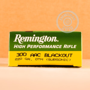 Image of the 300 AAC BLACKOUT REMINGTON EXPRESS 220 GRAIN OTM (200 ROUNDS) available at AmmoMan.com.